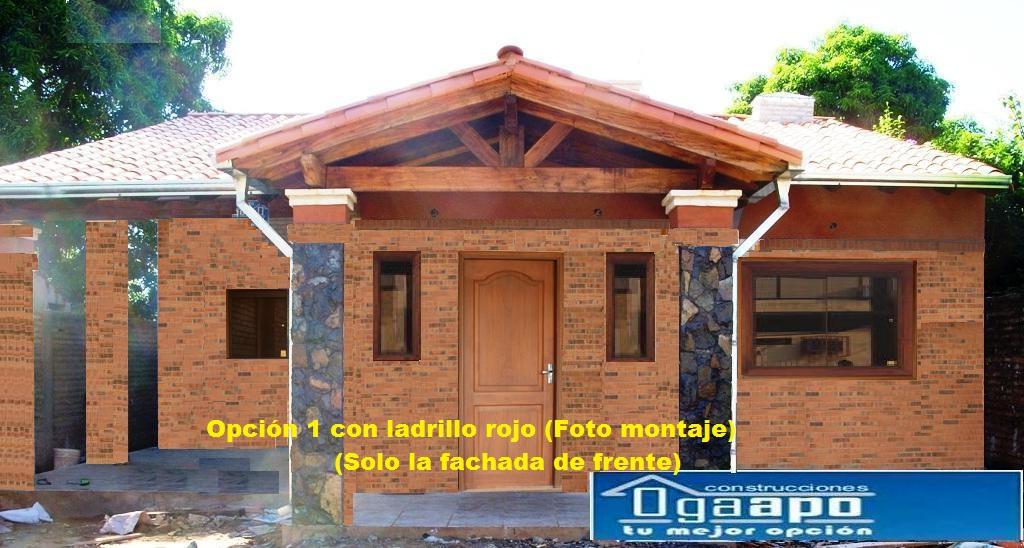 Pin casa de ladrillo visto on pinterest garden - Casas de ladrillo visto ...